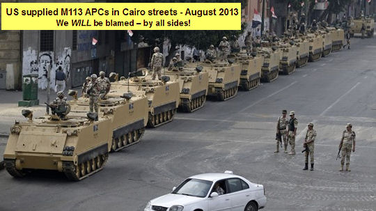 M113s in Cairo