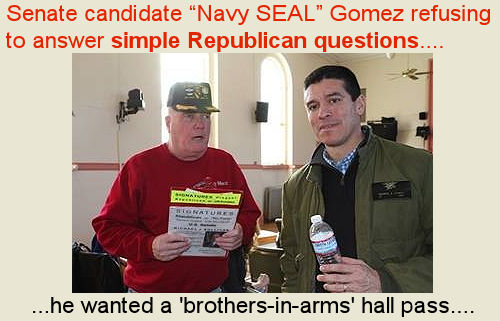 Navy SEAL Gomez refused to answer