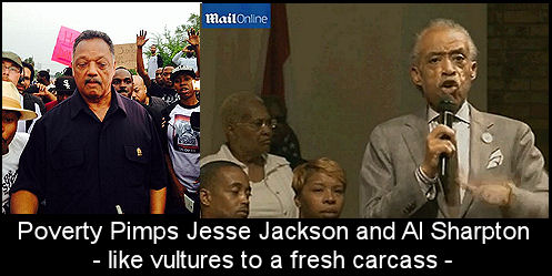 Jackson and Sharpton in Ferguson