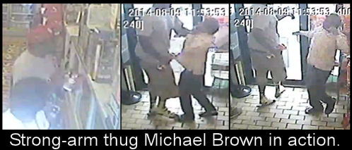 Michael Brown  strong-arm thug