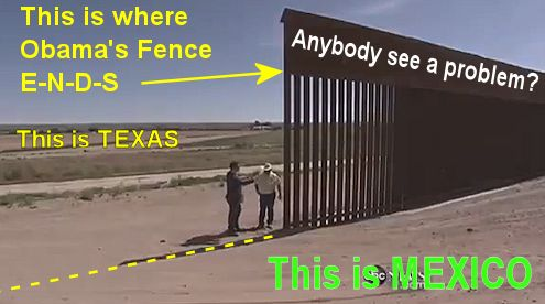 Where Obama's Fence ENDS