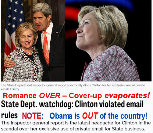 Kerry Clinton romance is OVER