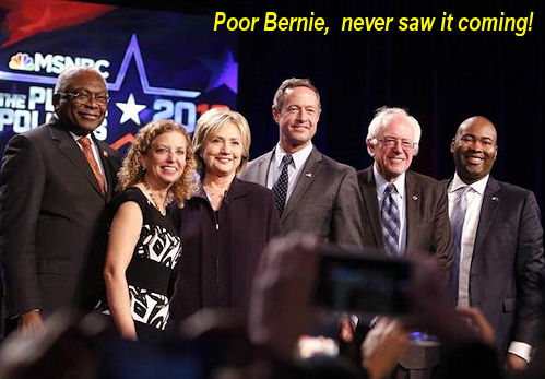 Bernie never saw it coming