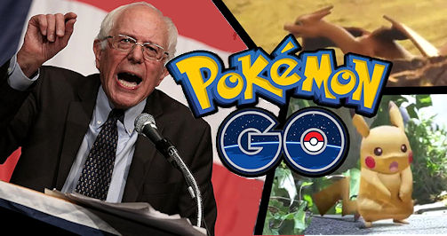 Bernie on Pokemon Go