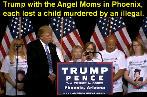 Trump with Angel Moms